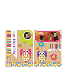 Birthday Owl Sweeting Card