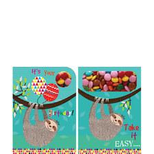 Birthday Sloth Sweeting Card
