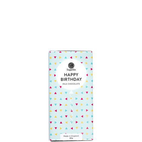 Happy Birthday Milk Chocolate Bar 80g, ${color}