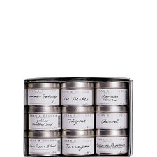 Set of 9 French Tins Collection
