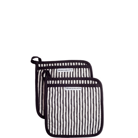Narrow Stripe Potholder Mitts, ${color}
