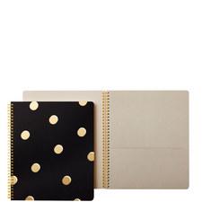 Scatter Dot Spiral Notebook Large