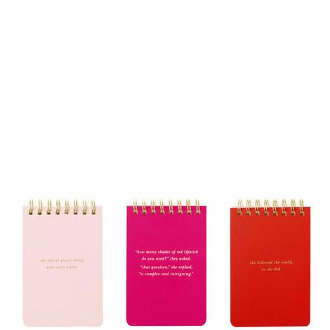 Set of 3 Spiral Notepads, ${color}