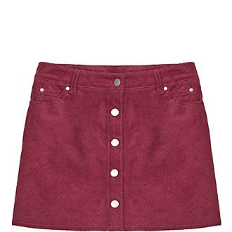 Corduroy Berry Skirt