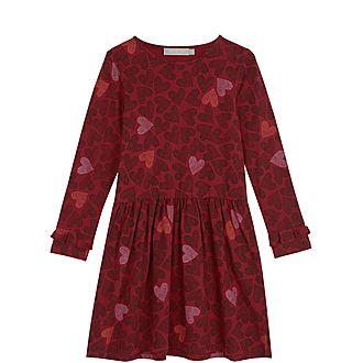 Berry Heart Ruffle Dress