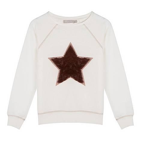 Faux Fur Star Sweatshirt, ${color}