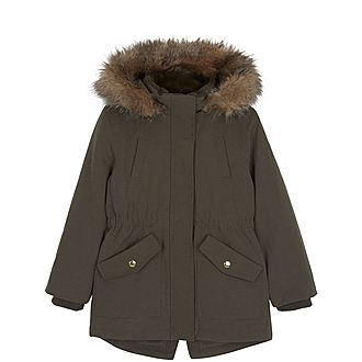 Faux Fur Hooded Parka