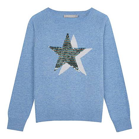 Star Front Sequin Sweater, ${color}