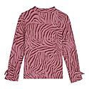 Zebra Print Jersey Top, ${color}