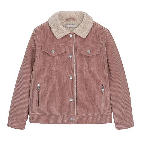 Cord Borg Lined Jacket, ${color}