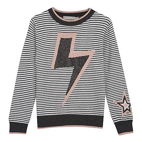 Striped Lightning Bolt Jumper, ${color}