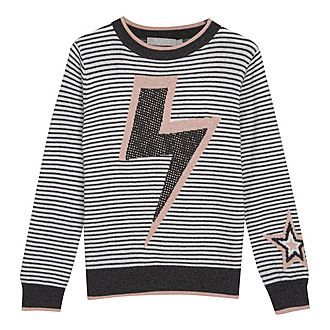 Striped Lightning Bolt Jumper