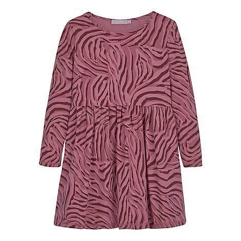 Zebra Print Jersey Dress, ${color}