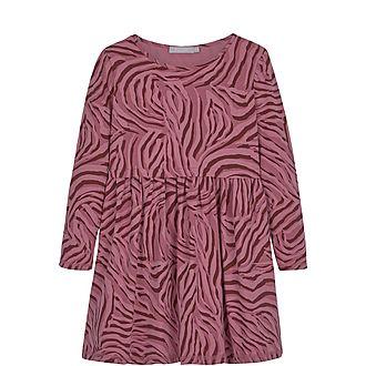 Zebra Print Jersey Dress
