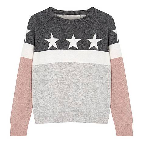 Star Blocked Sweater, ${color}