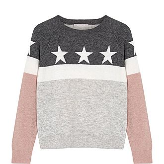 Star Blocked Sweater