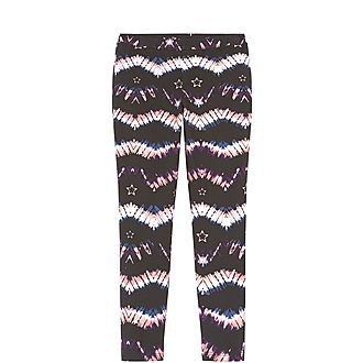 Tie-Dye Print Jersey Leggings