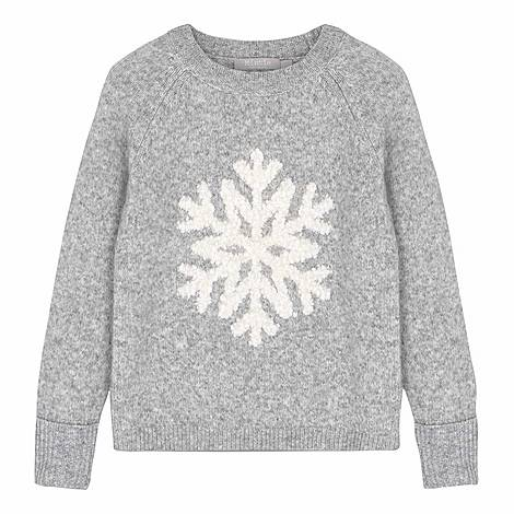 Snowflake Fluffy Sweater, ${color}