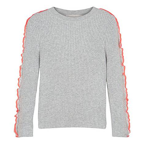 Frill Ribbed Sweater, ${color}