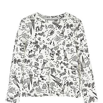 New York Print Long-Sleeved T-Shirt