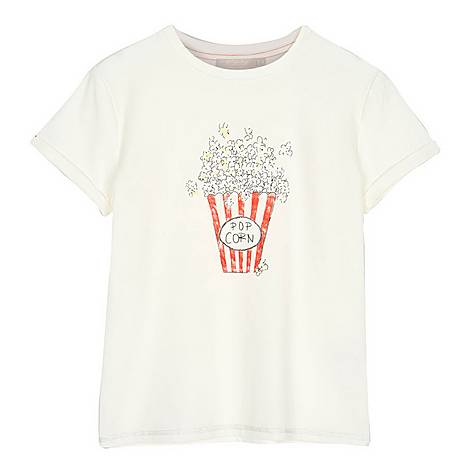 Popcorn Print T-Shirt, ${color}