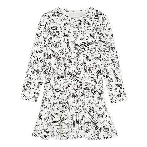 New York Print Dress, ${color}