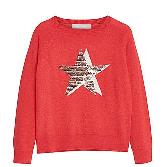 Star Front Sequin Sweater