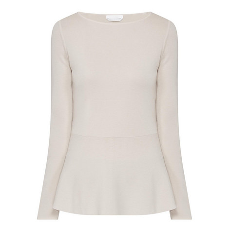 Finola Knitted Peplum Top, ${color}
