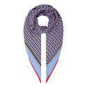 Lymna Patterned Silk Scarf, ${color}