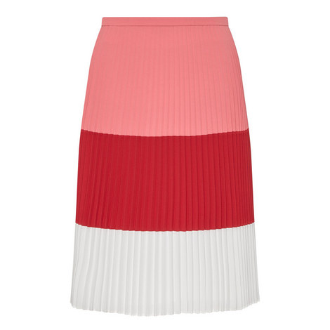 Visena Plissé Skirt , ${color}