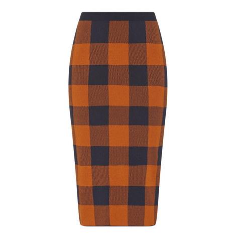 Fernanda Check Pencil Skirt, ${color}