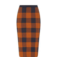 Fernanda Check Pencil Skirt