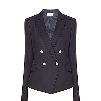 Jalarea Double-Breasted Button Jacket