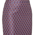 Varines Patterned Pencil Skirt, ${color}