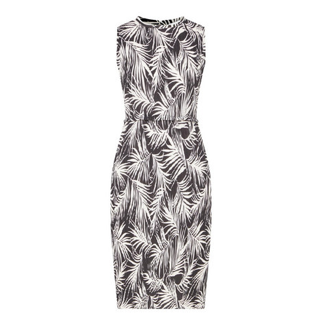 Emago Palm Print Dress, ${color}