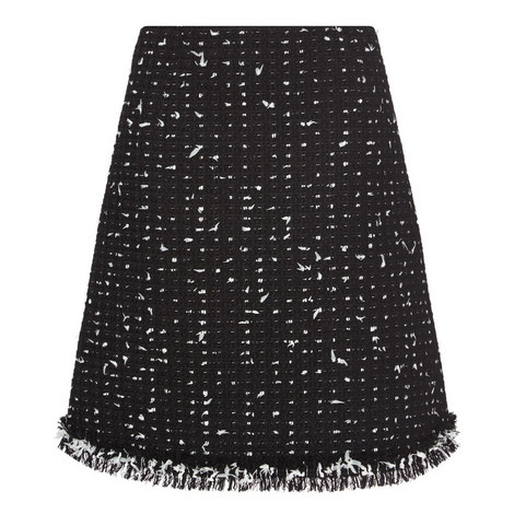 Tweed Fils Papillons Skirt, ${color}
