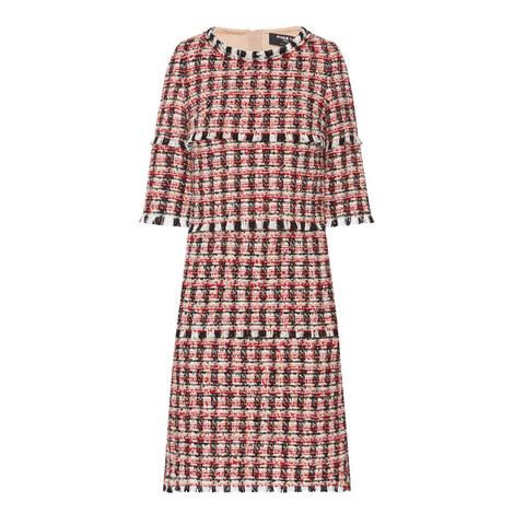 Tiered Tweed Dress, ${color}