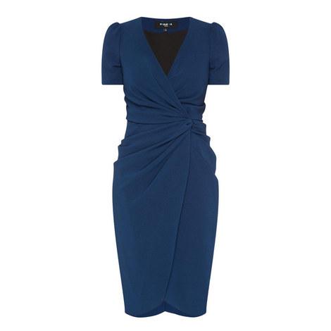 Short Sleeve Drape Dress, ${color}