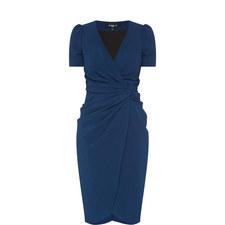 Short Sleeve Drape Dress