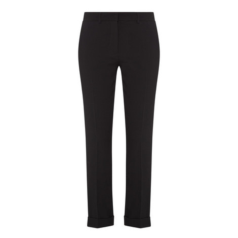 Crêpe Envers Satin Trousers , ${color}