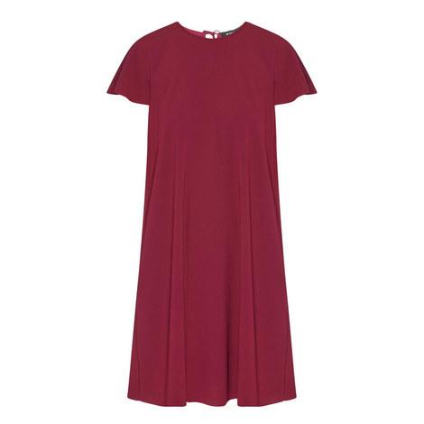 Short Sleeve Crêpe Dress, ${color}