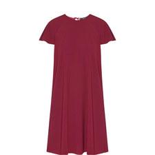 Short Sleeve Crêpe Dress