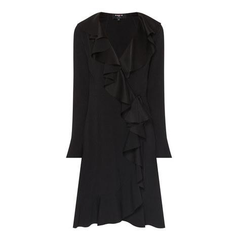 Asymmetric Frill Dress, ${color}