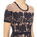 Jacquard Guipure Dress, ${color}