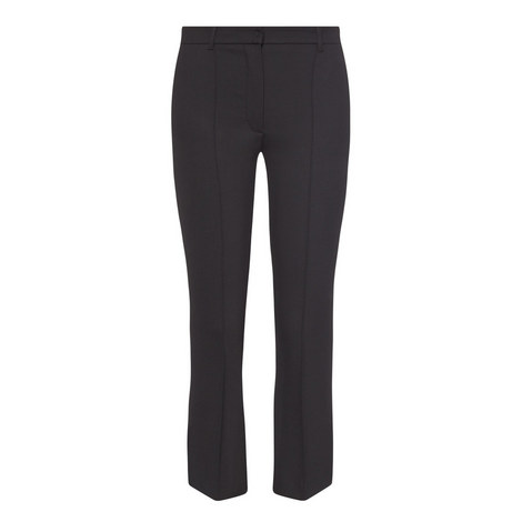 Cropped Bootcut Trousers, ${color}