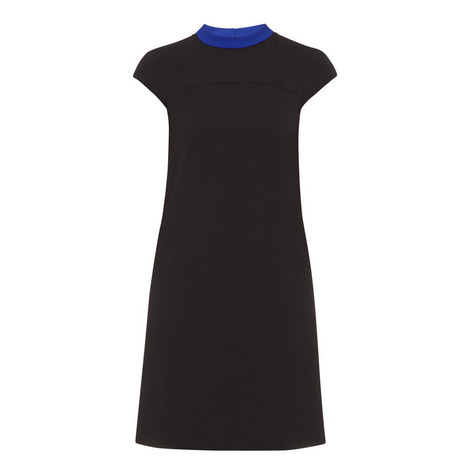 Crepe Cap Sleeve Dress, ${color}