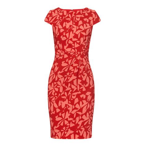 Short Sleeved Patterned Dress, ${color}