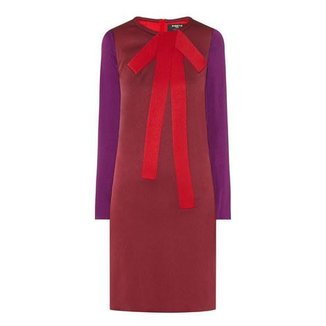 Long Sleeve Crepe Dress, ${color}