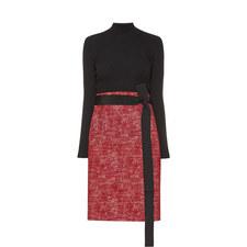 Dual Material Dress