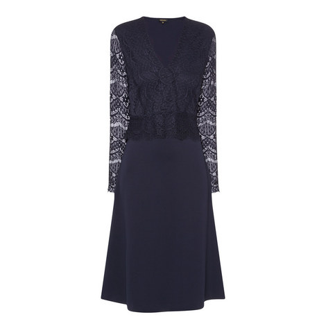 Evianda V-Neck Dress, ${color}